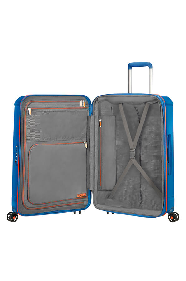 American Tourister Technum Spinner 4 Wheels 55cm Blue